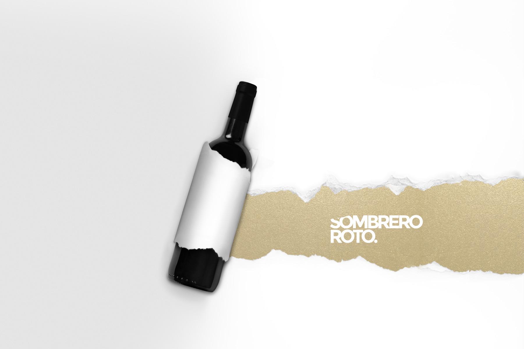 Wine-sombrero-roto-tear-paper-jorge-herrera-studio