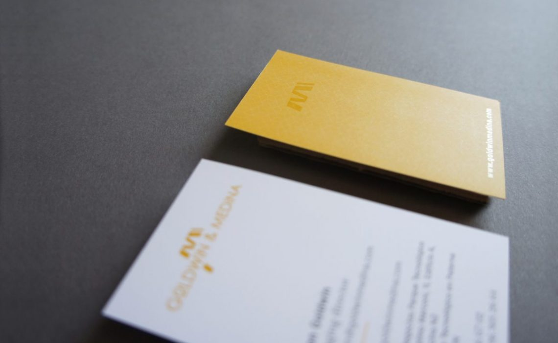 uvi ink detail in goldwin medina bussiness card by jorge herrera studio